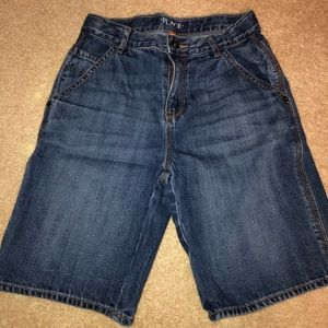 Youth boys denim jean shorts size 10